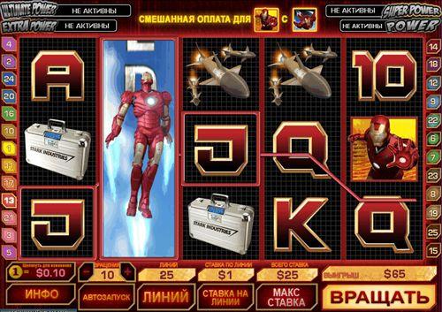 Игровой автомат Железный человек с Джекпотом
