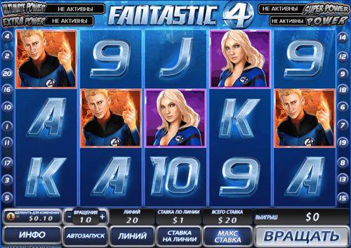 Игровой автомат Фантастическая четвёрка
